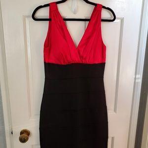Bisou Bisou | Red Satin Cocktail Dress